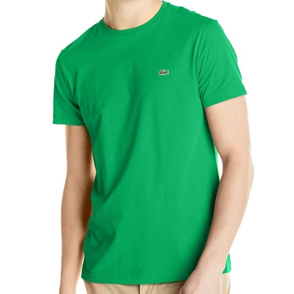 a341a45c Shop Lacoste NEW Green Mens Size 3XL Logo Crewneck Pima Cotton T-Shirt - Free  Shipping On Orders Over $45 - Overstock - 19796524