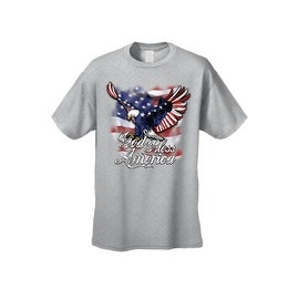 Men's T-Shirt God Bless America USA Flag Pride Bald Eagle Stars & Stripes Patriotic