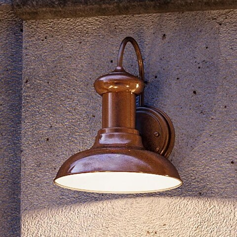 "Luxury Industrial Chic Outdoor Wall Light, 10""H x 8.125""W, with Nautical Style Elements, Solid Copper Finish by Urban Ambiance"