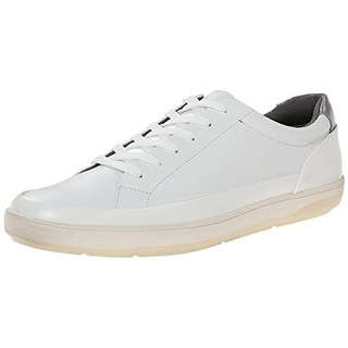 Calvin Klein Mens Ward Faux Leather Low Top Sneakers - 7 medium (d)