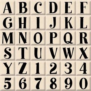 "Inkadinkado Mounted Rubber Stamp Set 3""X3""-Bills Alphabet Uperrcase"