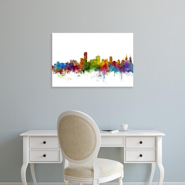 Easy Art Prints Michael Tompsett's 'Adelaide Australia Skyline' Premium Canvas Art