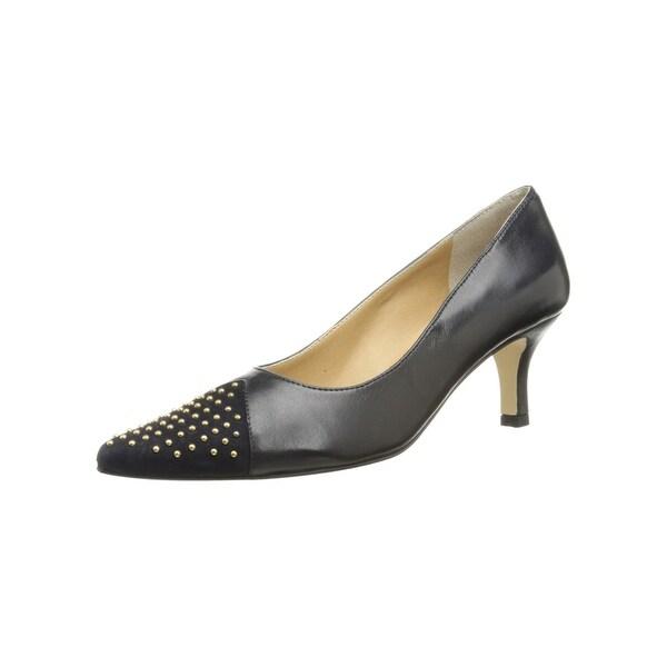 Vaneli NEW Blue Gold Shoes Size 5.5M Liuba Studded Pumps Heels