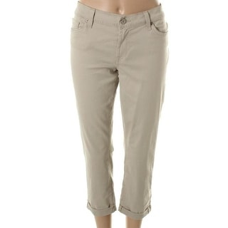 7 For All Mankind Womens The Skinny Skinny Cuffed Cropped Jeans - 27