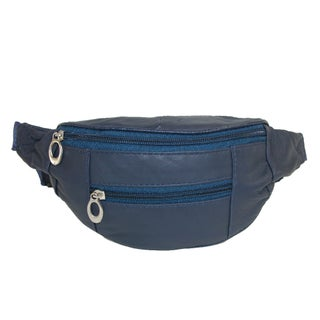 CTM® Kids' Leather 3 Zippers Small Waist Pack
