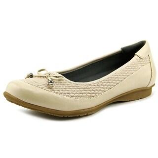 FootSmart Kathleen Round Toe Synthetic Flats