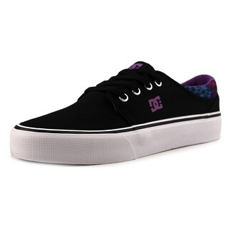 DC Shoes TRASE SP Men Round Toe Canvas Black Skate Shoe