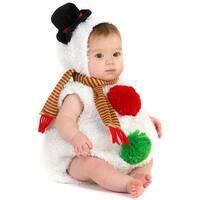 Princess Paradise Snowman Infant Costume - White