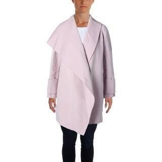 Vince Womens Wool Drape Neck Coat - S