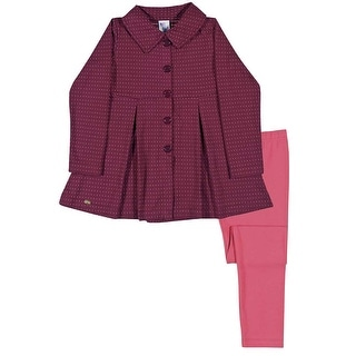 Girls Outfit Pea Coat Jacket and Leggings Kids Set Pulla Bulla Sizes 2-10 Years