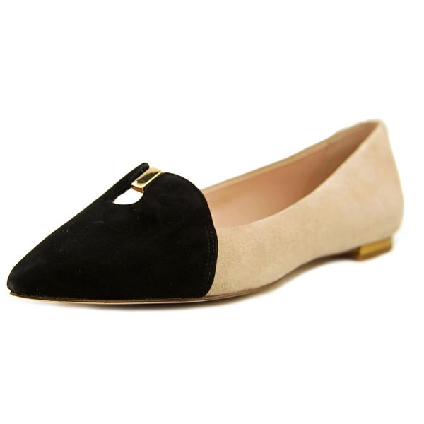 Aerin Ives Pointed Toe Suede Flats
