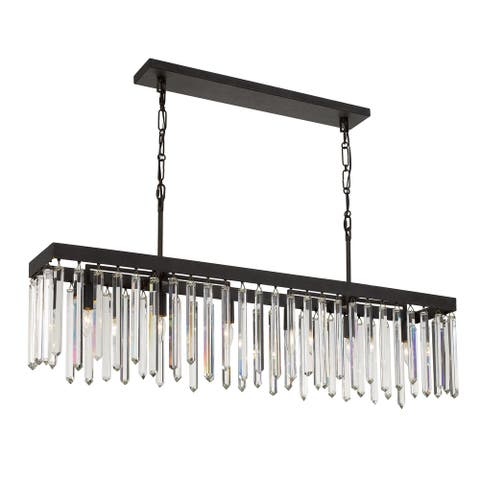 Hollis 6 Light Bronze Chandelier - 49'' W x 20.5'' H x 8'' D