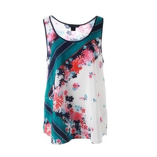 French Connection Womens Silk Floral Print Tank Top - 0