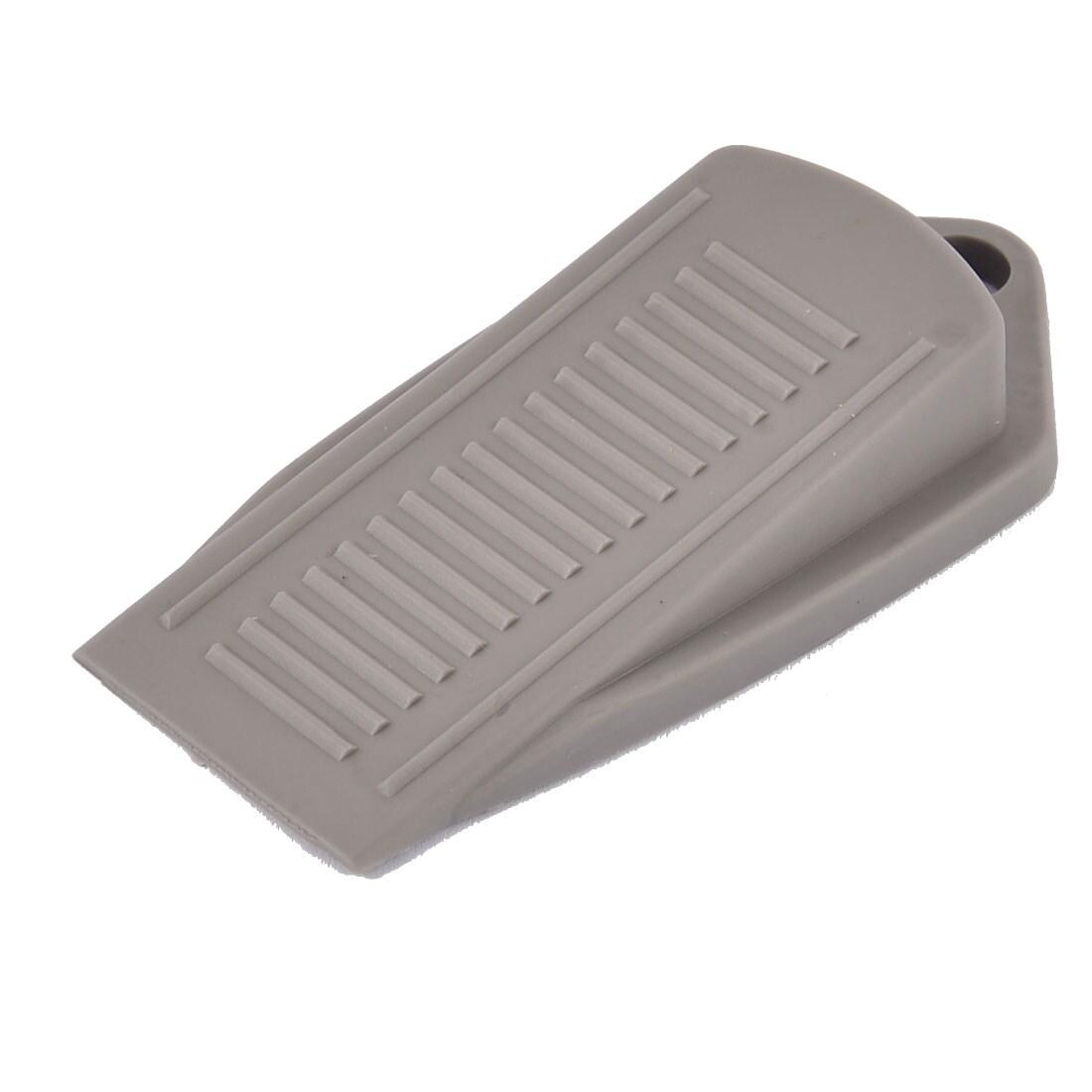 uxcell Rubber Door Stopper Security Door Stop Modern Wedge Floor Non-Scratching Doorstop Clear Blue 4pcs