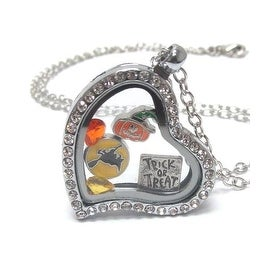 Charm Heart Halloween Locket Necklace