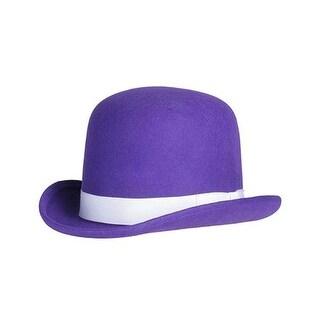 Tall Derby Bowler Hat in Purple