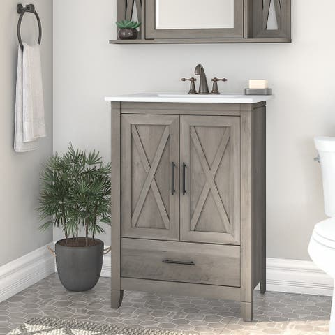 Key West 24W Bathroom Vanity with Sink by Bush Furniture