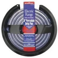 """Stanco 410-8 Electric Range Drip Pan 8"""", Black Porcelain"""