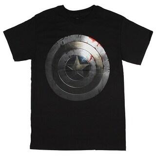 Marvel Comics Men's Captain America Beaten Shield T-Shirt