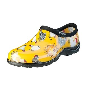 Sloggers 5116CDY08 Women's Chicken Print Garden Shoe, Daffodil Yellow, Size 8