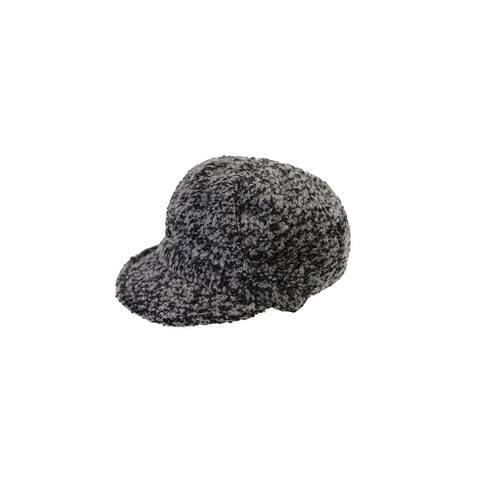 August Hat Grey Black Boucle Cap OS