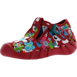 Befado Girls Flower Child Slippers - Red