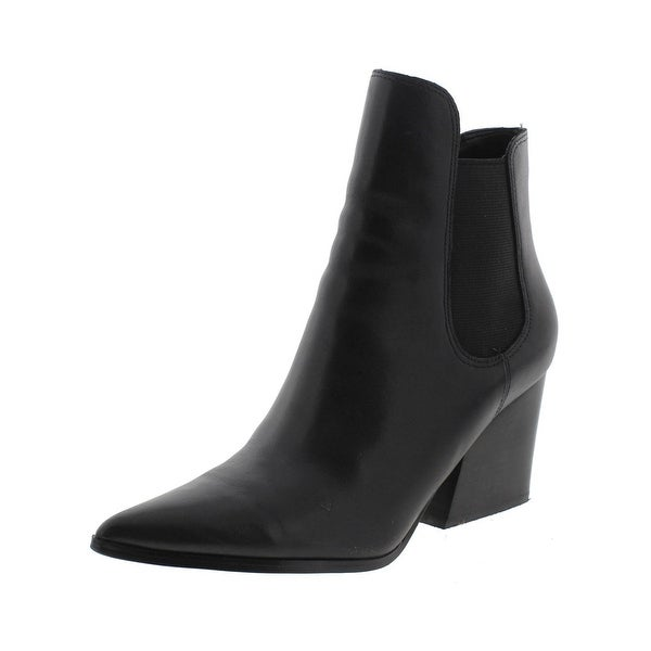 Kendall + Kylie Womens Finley Booties Leather Pointed Toe