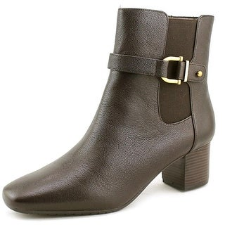 Bandolino Lorillard Women Square Toe Leather Brown Ankle Boot