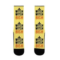 Witch Witch Bish Parody US Size 7-13 Socks by LookHUMAN