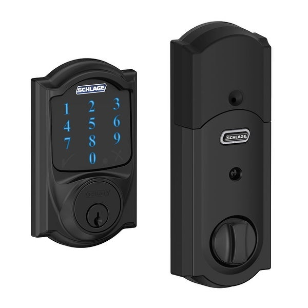 Schlage BE469NX-CAM Connect Camelot Touchscreen Electronic Deadbolt with Built-in Alarm and Z-Wave Technology - N/A