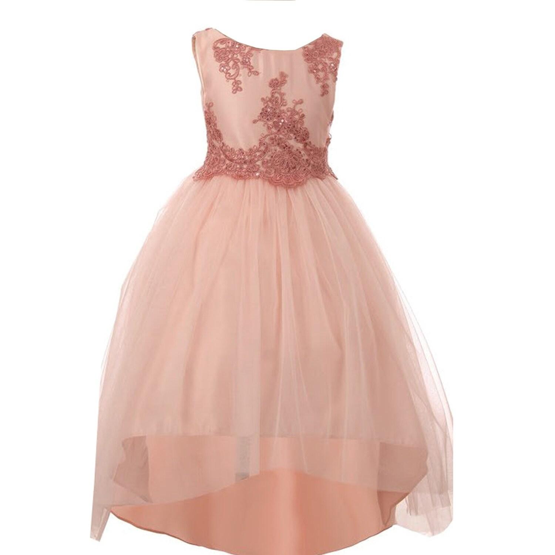 Rose Gold Dresses Kids 52 Off Sintoemcasa Com Br