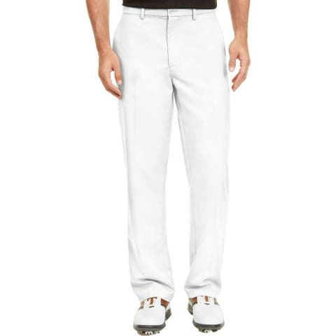 Greg Norman Mens Pants White Size 40X30 Chino Performance Protech