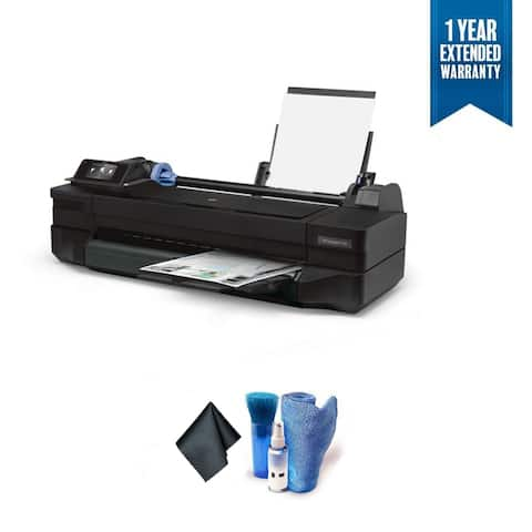 "HP Designjet T120 24"" Color Inkjet Wi-Fi ePrinter Bundle with 1 Year Extended Warranty"