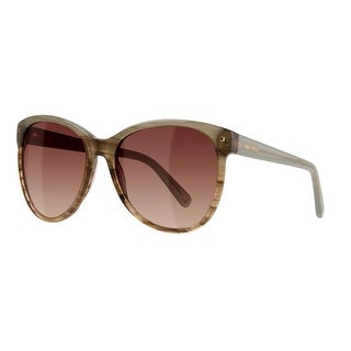Nine West Womens Cat Eye Sunglasses Gradient Oversized - blue/brown horn gradient - o/s