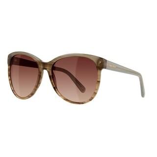 Nine West Womens Cat Eye Sunglasses Gradient Oversized - blue/brown horn gradient - o/s