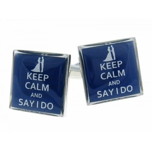 Keep Calm Say I Do Getting Married Cufflinks