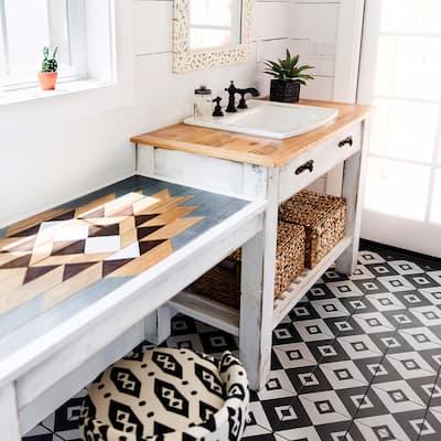 """SomerTile Twenties Vertex Encaustic 7.75"""" x 7.75"""" Ceramic Floor and Wall Tile"""