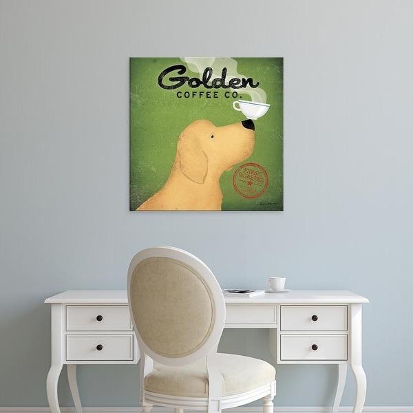 Easy Art Prints Ryan Fowler's 'Golden Coffee Co' Premium Canvas Art