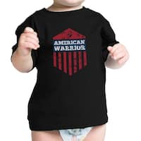 American Warrior Cute 4th Of July Black Infant Graphic Tee Cotton