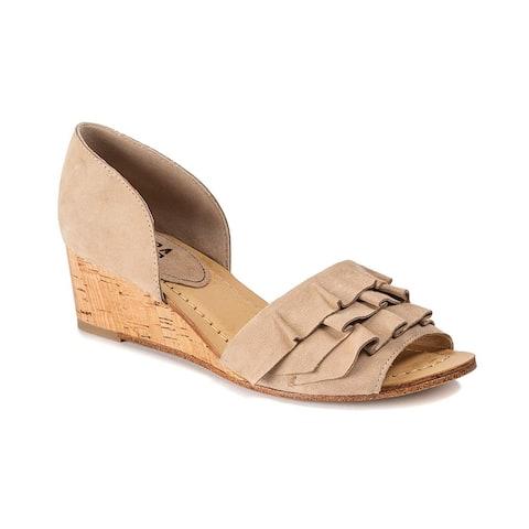 Lucca Lane Womens Saddie Suede Closed Toe Casual Espadrille Sandals