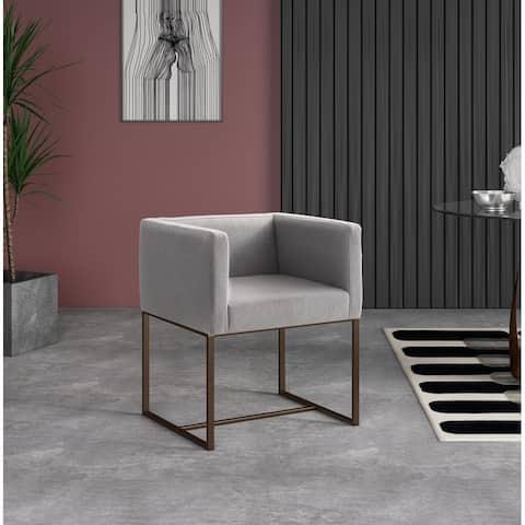 Modrest Marty Modern Grey & Copper Antique Brass Dining Chair