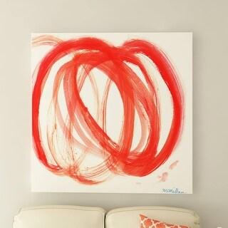 Link to Porch & Den Orange Swirl I' Canvas by Dana McMillan Similar Items in Canvas Art