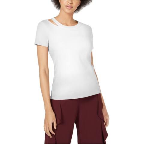 Bar Iii Womens Cutout Basic T-Shirt
