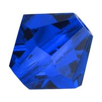 Preciosa Czech Crystal 4mm Bicone Beads Capri Blue (50)