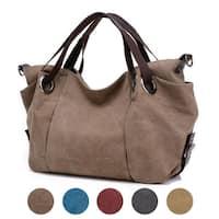 Women Fashion Canvas Handbag in 5 Assorted Colors