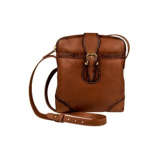 Scully Western Handbag Womens Handles Pebbled Leather Zip Brown B166 - One size