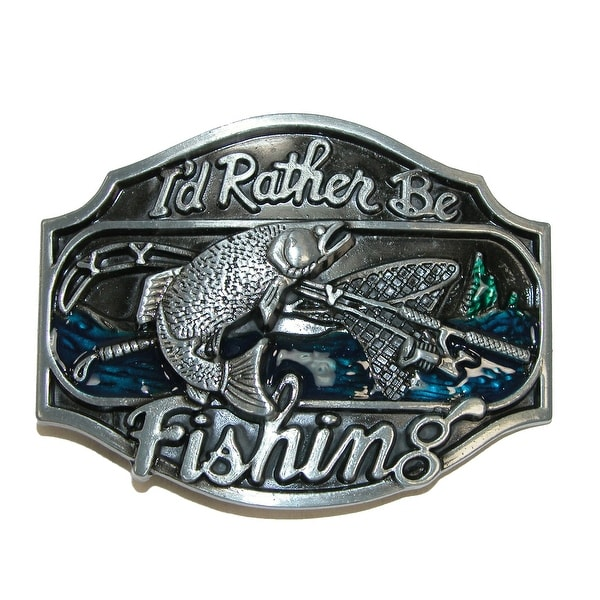CTM® I'd Rather Be Fishing Belt Buckle