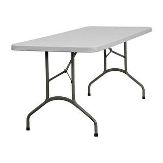 Offex 30''W X 72''L Granite White Plastic Folding Table