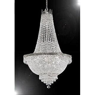 Swarovski Crystal TM French Empire Chandelier - Silver