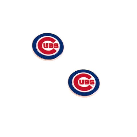 Chicago Cubs Post Stud Logo Earring Set MLB Charm - 1/2 Inch to 3/4 Inch